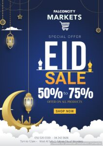 Falconcity Markets Special Eid Sale Leaflet cover page